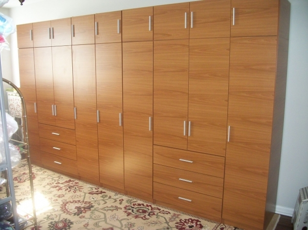 Wall Wardrobe Handmade Honey Maple Matte Finish Complete Wall Wardrobe Closet Pictures