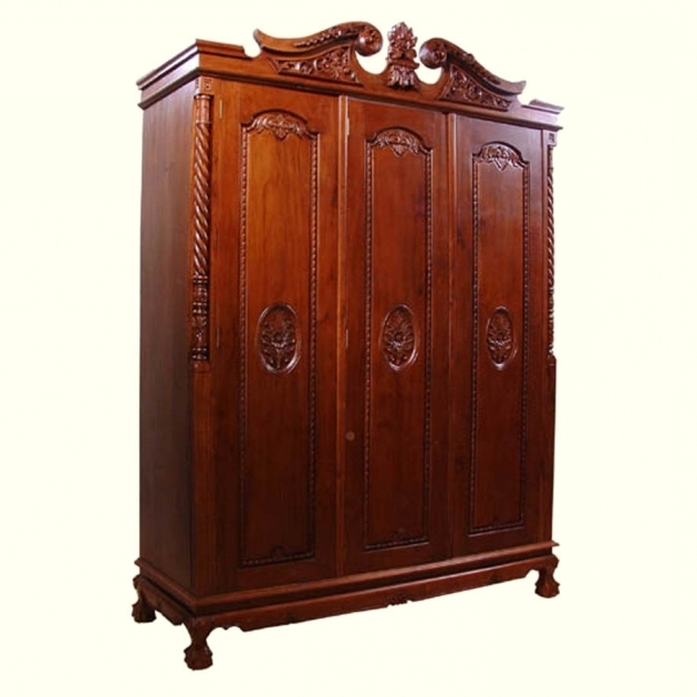 Antique Wardrobe Antique Wardrobe Thearmchairs Pic