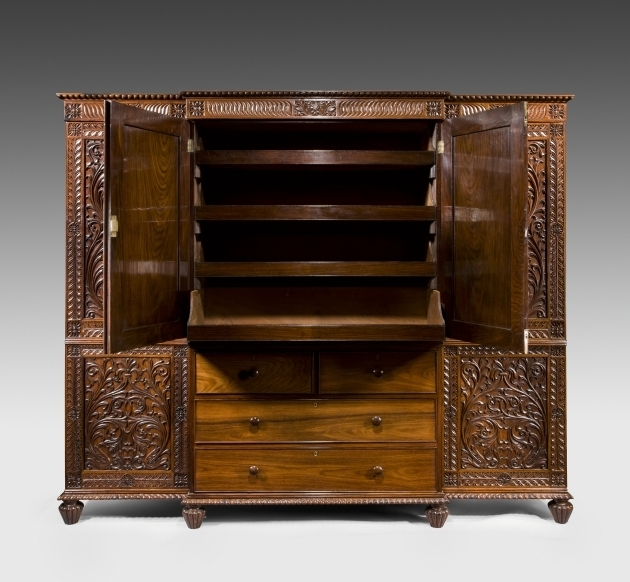 Antique Wardrobe Breakfront Antique Wardrobe C 1825 India From Wick Antiques Ltd Pic