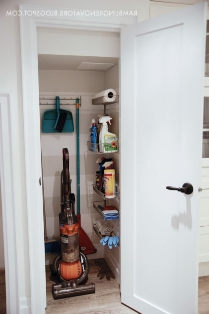 Broom Closet Organizer 1000 Ideas About Broom Storage On Pinterest Bathroom Wall Images