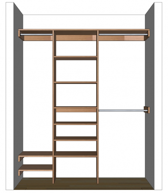 Built In Closet Organizers Diy Closet Organizer Plans For 539 To 839 Closet Images