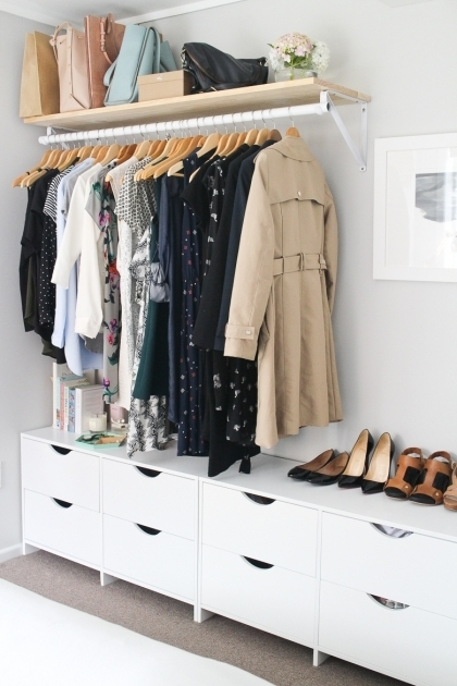 Closet Clothes Storage Storage Ideas For A Bedroom Without A Closet Genius Clothing Pictures