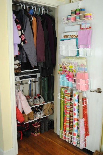 Coat Closet Storage 1000 Ideas About Hall Closet Organization On Pinterest Front Image