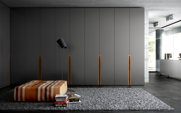 Contemporary Wardrobe Contemporary Wardrobe Wooden Lacquered Wood With Swing Doors Image