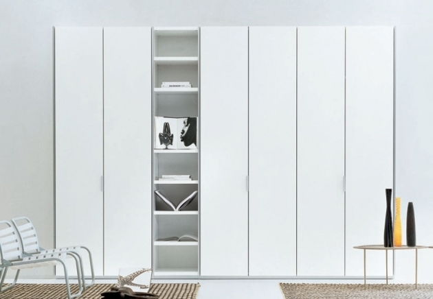 Contemporary Wardrobe Contemporary Wardrobe Wooden With Swing Doors With Bookcase Pic