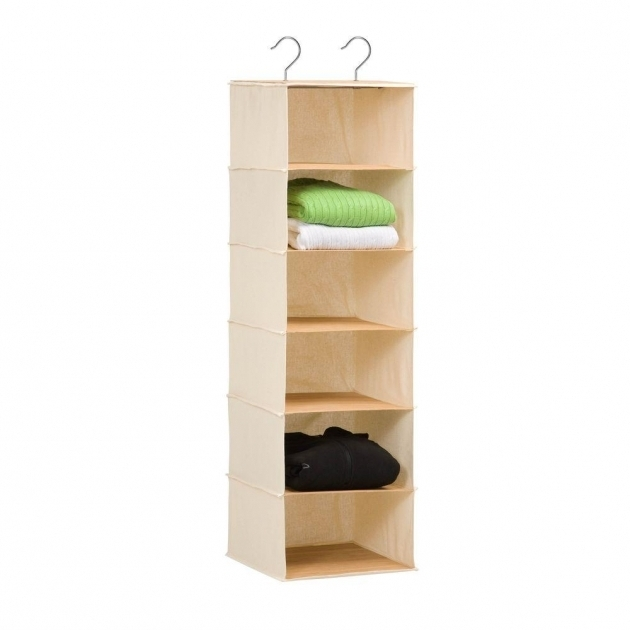 Hanging Closet Storage Honey Can Do Hanging Organizer In Canvas And Bamboo Sft 01003 Photos