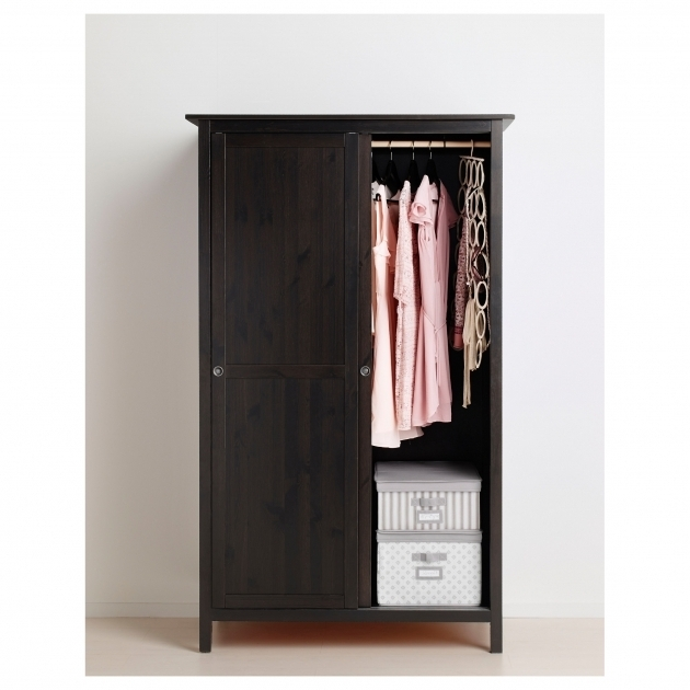 Hemnes Wardrobe Hemnes Wardrobe With 2 Sliding Doors Black Brown Ikea Images