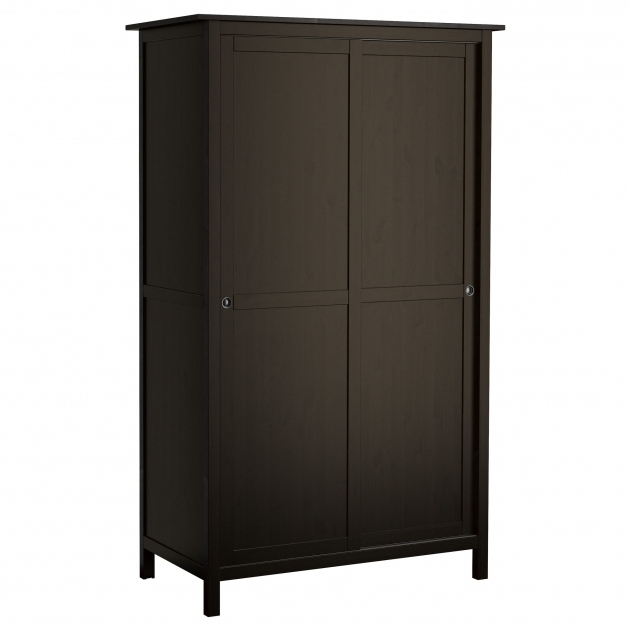 Hemnes Wardrobe Hemnes Wardrobe With 2 Sliding Doors Black Brown Ikea Pics
