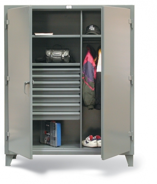 Metal Wardrobe Cabinet Stronghold Wardrobe Cabinet With 7 Drawers 4839 Wide Metal Image