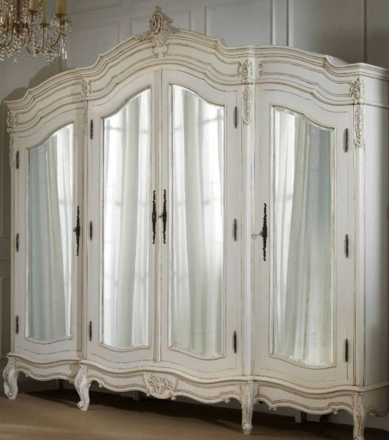 Mirrored Armoire Wardrobe White French Armoire Wardrobe With Mirror Beautiful French Picture