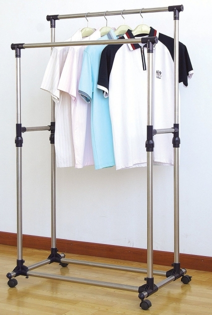 Portable Wardrobe Rack Wardrobe Rack Style Selections White Steel Garment Rack With Pics
