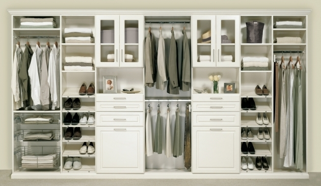 Wardrobe Closet With Drawers Broken White Wooden With Hanging And Open Shelves Also Drawers And Picture