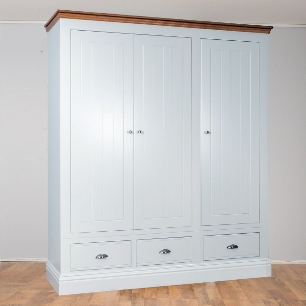 White Wardrobe With Drawers 3 Door White Wardrobe With Drawers Image