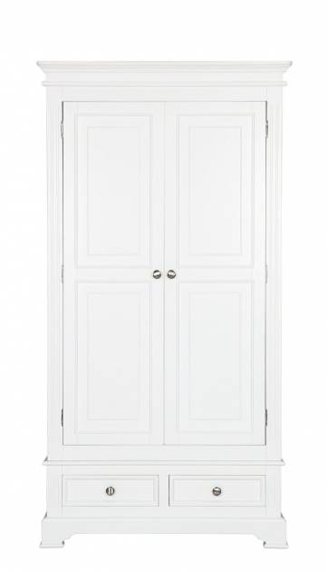White Wardrobe With Drawers Burford White Painted Double Wardrobe With Drawers Pics