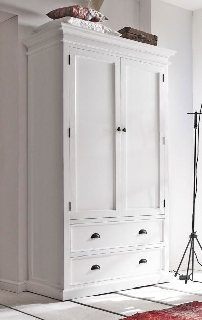 White Wardrobe With Drawers Farrow And Ball Painted Pine 2 Door Double Wardrobe With Drawers Picture