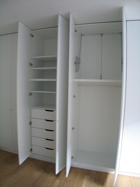White Wardrobe With Drawers High Two Tones Wardrobe With Drawer Inside For Pink Girls Closet Photo