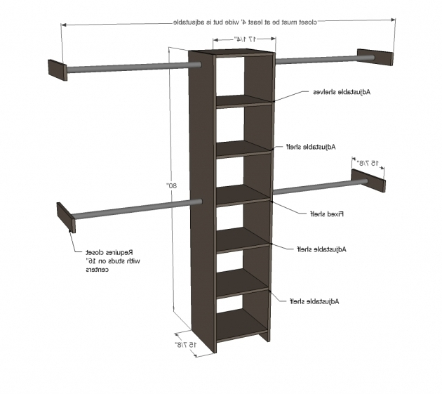 Closet Organizer Plans Ana White Closet Organizer From One Sheet Of Plywood Diy Projects Photo