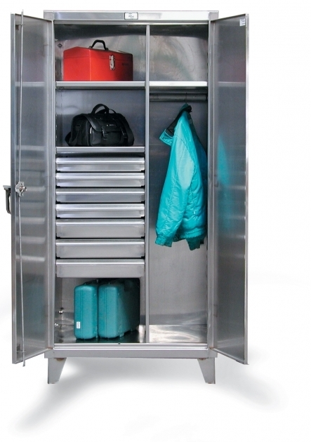 Steel Wardrobe Cabinet Strong Hold Products Stainless Steel Uniform Cabinet Images