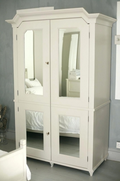 B43 Small Armoire Wardrobe Clothing Antique Mirrored  Image