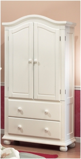 B73 Antique French Small Armoire Wardrobe With Drawers Image