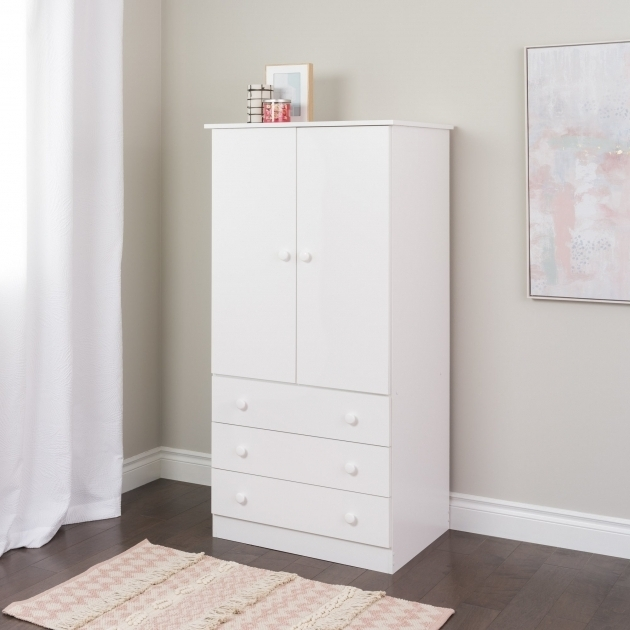 L42 Small Armoire Wardrobe 2 Door 3 Drawers Bottom 1 Number Cabinet Simple Design Pictures