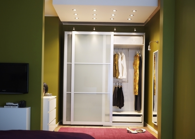 Delightful Entrancing Wood And Glass Closet Doors Roselawnlutheran Wardrobe Closet With Sliding Doors Photo