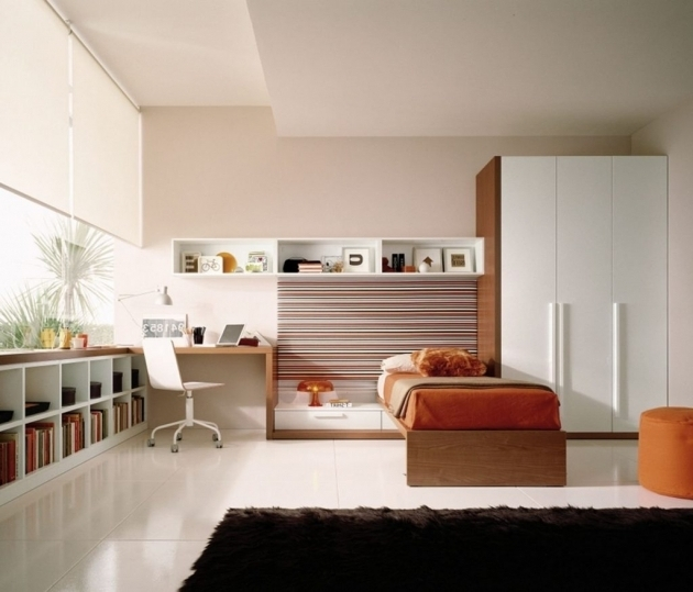 Image of Bedrooms Cool Open Wardrobe Embedded Study Unit Modular Wardrobe Wardrobe With Study Table Designs Photo