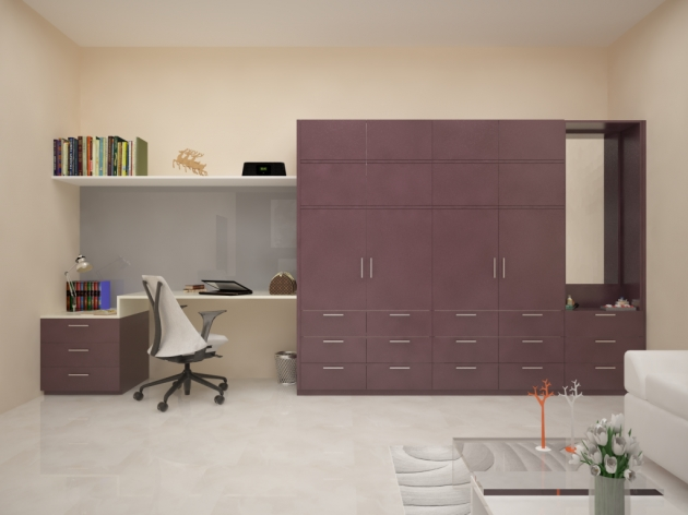 Stunning 4 Ways To Add Value To Your Wardrobe Homelane Wardrobe With Study Table Designs Pic