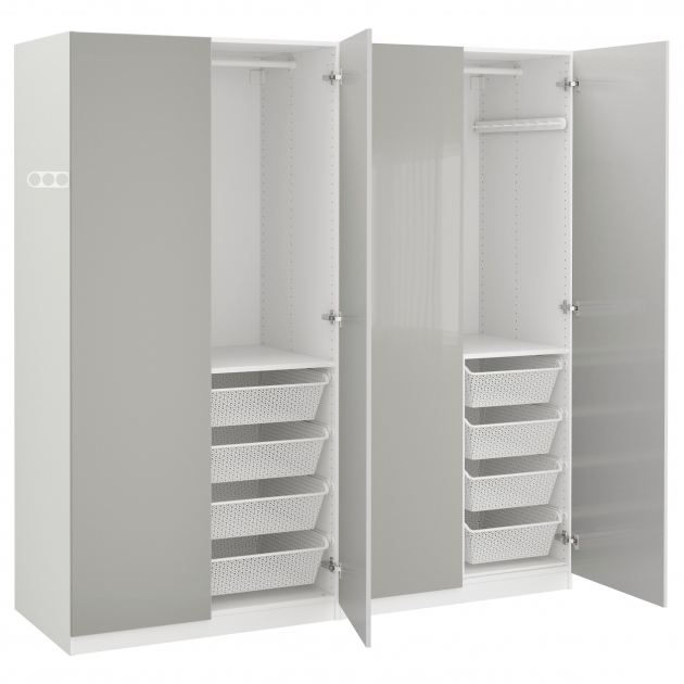 Stunning Pax Wardrobe Whitefardal High Gloss Light Grey 200x60x201 Cm Ikea Ikea Wardrobe Closet Pics