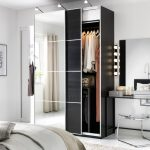Alluring A White Bedroom With A Dark Pax Wardrobe Combination With A Mix Of Wardrobe Bedroom Design Black And White Combination Photo