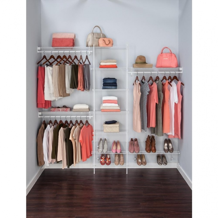 Alluring Closetmaid Superslide 5 Ft. To 8 Ft. 12.9 In. D X 96 In. W X 86.3 In Closet Organizer Systems Canada Image