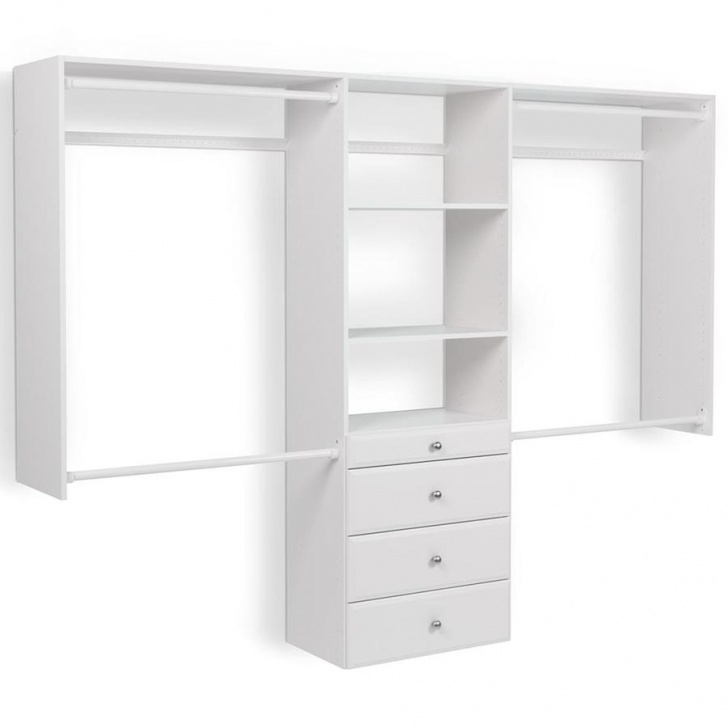Alluring Easy Track 8-Ft W X 7-Ft H White Wood Closet Kit At Lowes Lowes Small Walk-In Closet Design Ideas Photo