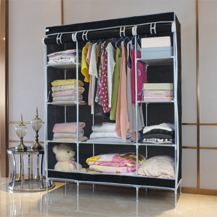 Alluring Finether New Fashion And Creative Double Modular Metal Framed Non Wardrobe Organizer Metal Pics