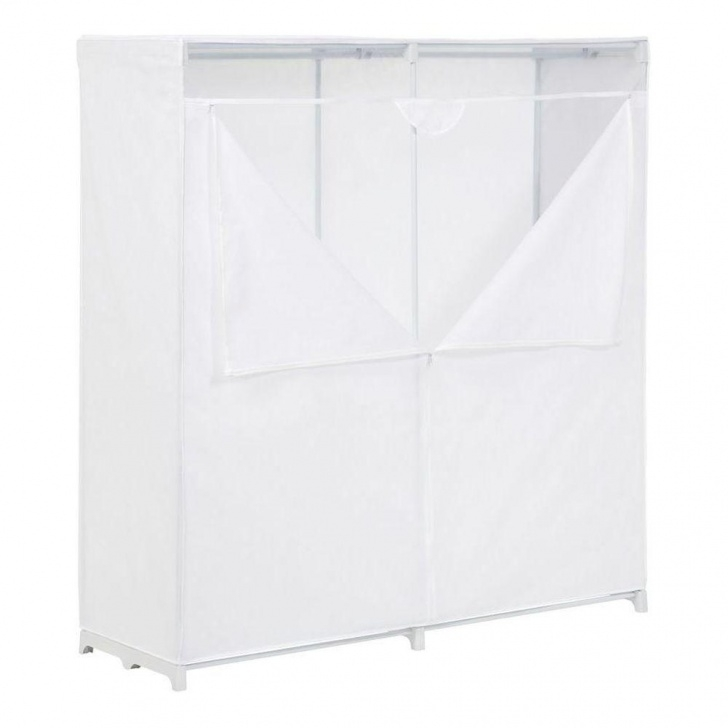Alluring Honey-Can-Do 60 In. H X 64 In. W X 20 In. D Portable Closet In White White Portable Closet Image