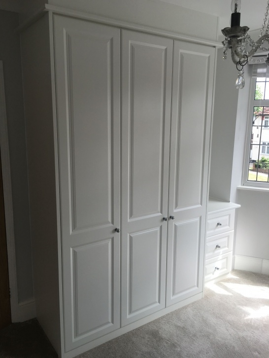 Alluring Simply Fitted Wardrobes Recently Installed Traditional Style White Wardrobe Traditional Picture