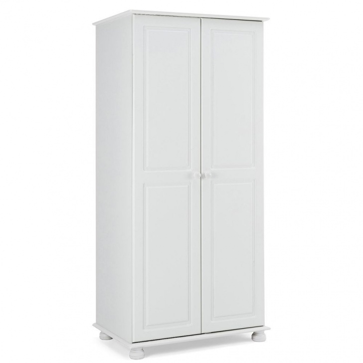 Amazing 2 Door Wooden Wardrobe Traditional White Colour Pine Finish Bedroom White Wardrobe Traditional Picture