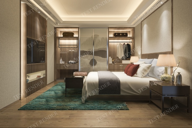 Amazing 3D Model Luxury Modern Bedroom Suite In Hotel Wardrobe And 3D Designs For Bedroom Wardrobes Pics