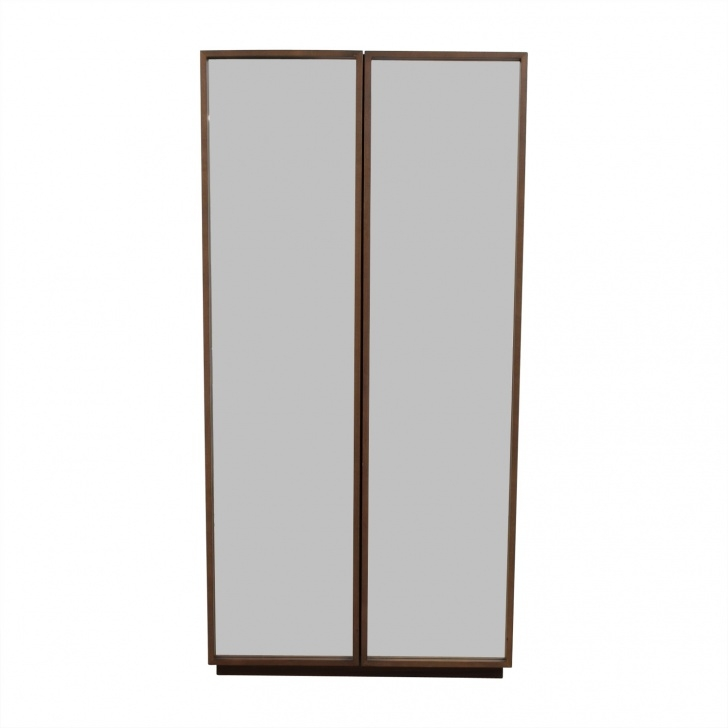 Amazing 64% Off - Cb2 Cb2 Mirrored Wardrobe Armoire / Storage Mirror Wardrobe Armoire Photo