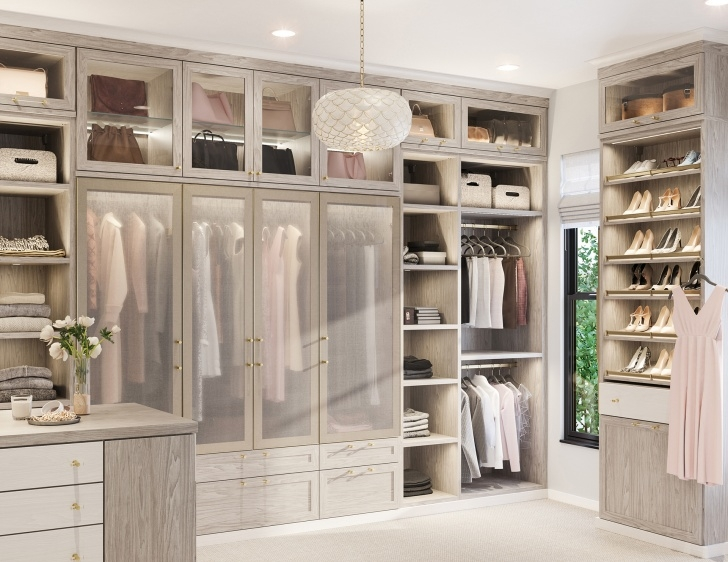 Amazing Walk In Closet Systems | Walk-In Closet Design Ideas | California Open Closet Systems Pics
