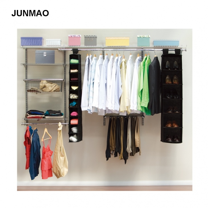 Astonishing Hanging Closet Organizer System Wall Mounted Clothes Hanger Rack Closet Systems For Wall Picture