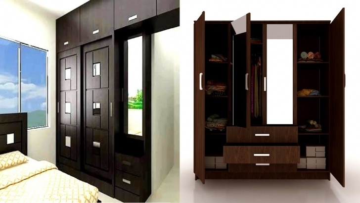 Awesome Bedroom Cupboard Design With Dressing Table - Youtube Bedroom Almari With Dressing