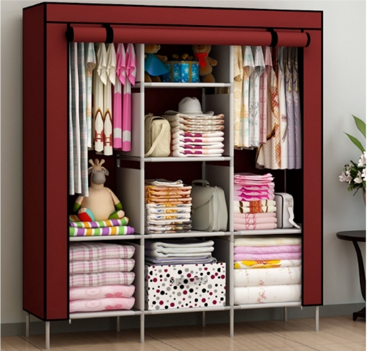 Awesome Details About Wardrobe Storage Clothes Organizer Closet Cabinet Stand Alone Closets For Bedroom Picture