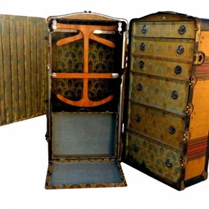 Best Antique Indestructo Travel Wardrobe Steamer Trunk On Chairish Steamer Trunk Wardrobe Ideas Photo