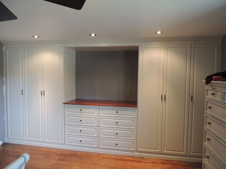Brilliant Custom White Wall Unit In A Master Bedroom | Bedroom Wardrobes Bedroom Wall Units Wardrobe Image