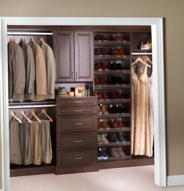 Brilliant Furniture: Customize Your Closet Storage Using Lowes Closet Lowes Small Walk-In Closet Design Ideas Photo