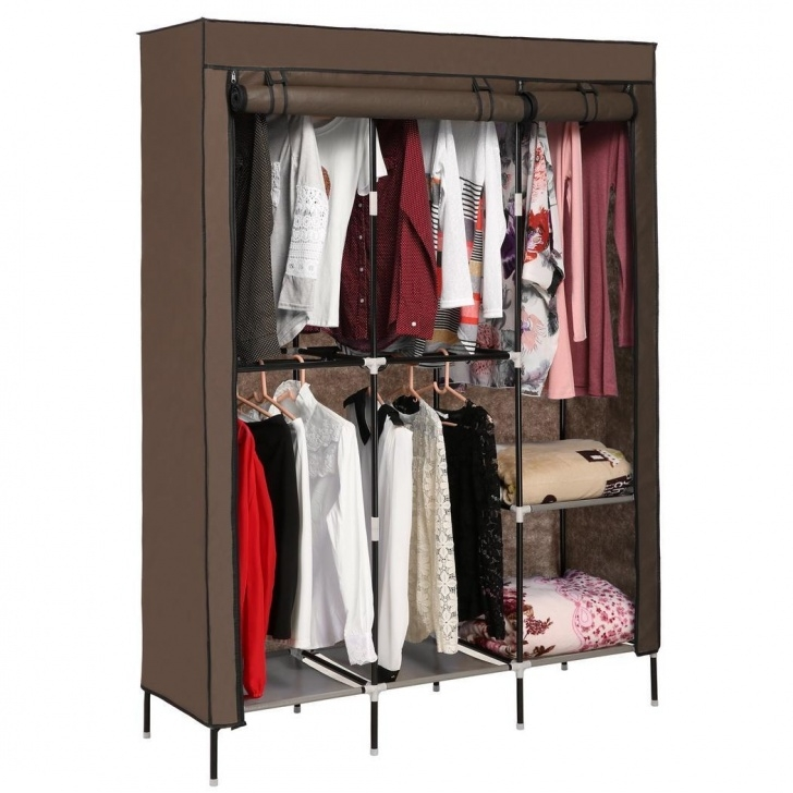 "Excellent 68"" Closet Wardrobe Clothes Rack Organizer Storage Stainless 68 Wardrobe Closet Pics"