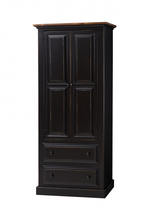 Excellent Armoire With Drawers Peaceful Valley Amish Furniture Cabinet Drawer Amish Storage Closet Clothing Picture