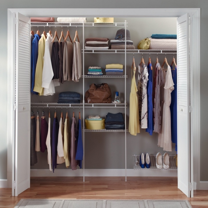 Excellent Closetmaid Closet Organizer Kit With Shoe Shelf, 5' To 8' - Walmart Closet Systems For Wall Photo