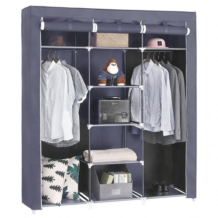 Excellent Lot: Songmics Wardrobe Closet Organiser Textile Folding 17 11/16In 68 Wardrobe Closet Picture