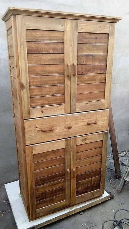 Excellent Lovely Wooden Pallets Safe Almari Ideas | Refinish And Reuse Wood Safe Almari Pic